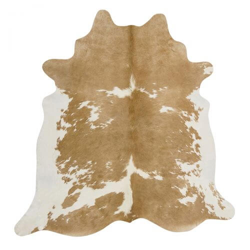 cowhide beige and white classic Scandinavian rug space