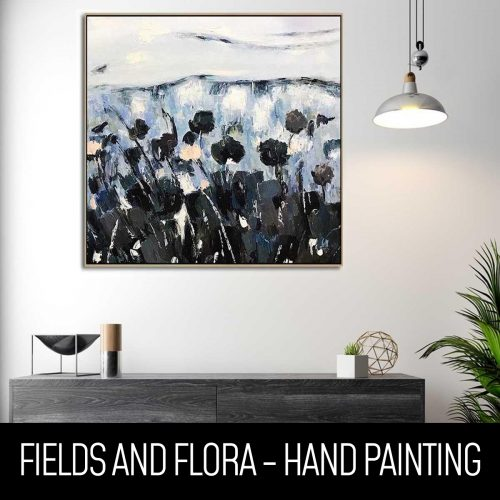 fields and flora hand painting