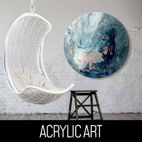 Round Acrylic Art